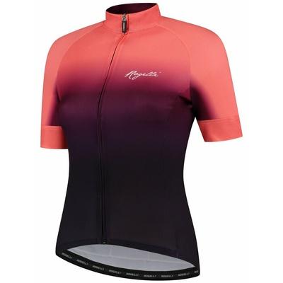 Damski premium koszulka rowerowa Rogelli DREAM z krótkim rękawem, bordowo-koralowy 010.093, Rogelli