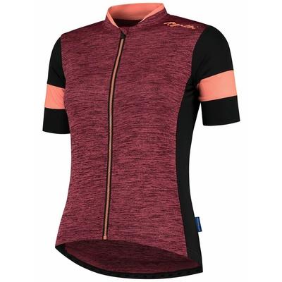 Damski koszulka rowerowa Rogelli UROK 2.0 z krótkim rękawem, bordowo-czarny-koralowy 010.102, Rogelli
