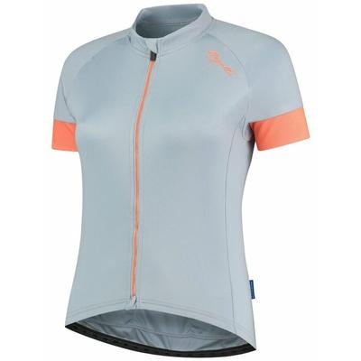 Damski rowerowy bluza Rogelli MODESTA z krótkim rękawem, szaro-niebiesko-koralowy 010.109, Rogelli