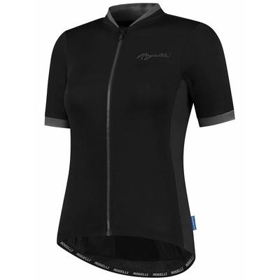 Damska przewiewna koszulka kolarska Rogelli ESSENTIAL z krótkim rękawem, czarno-szara 010.194, Rogelli