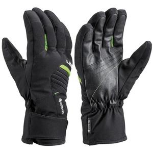 Narciarskie rękawice LEKI Spox GTX black/lime, Leki