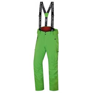 Męskie narciarskie spodnie Husky Mitaly M neon zielony