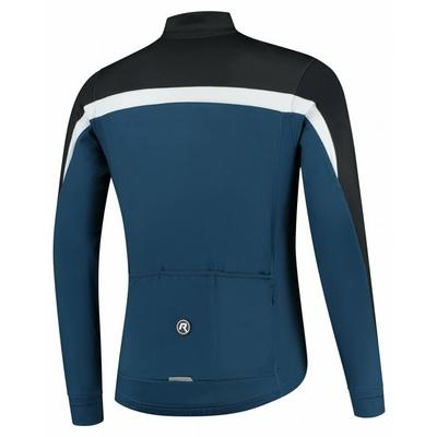 Ciepła męska koszulka rowerowa Rogelli Course niebiesko-czarno-biały ROG351006, Rogelli