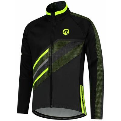 Membranowa rowerowa kurtka Rogelli TEAM 2.0, czarny odblaskowy żółty 003.970