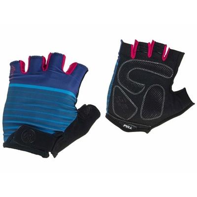 Damskie rowerowe rękawice Rogelli IMPONOWAĆ, niebiesko-różowe 010.600, Rogelli