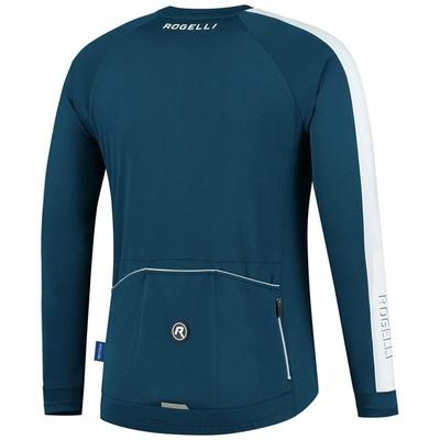 Męska koszulka rowerowa bez ocieplenia Rogelli Explore niebiesko biały ROG351001, Rogelli