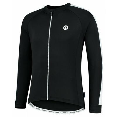 Męska koszulka rowerowa bez ocieplenia Rogelli Explore czarny i biały ROG351000, Rogelli