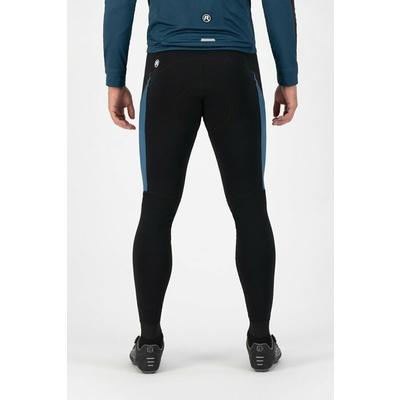 Męskie ciepłe spodnie rowerowe Rogelli Tyro czarno-niebieski ROG351018, Rogelli
