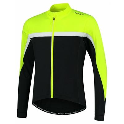 Ciepła męska koszulka rowerowa Rogelli Course czarny-odblaskowy Żółto-biały ROG351004, Rogelli