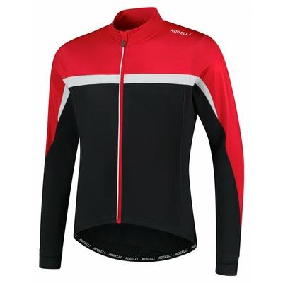 Ciepła męska koszulka rowerowa Rogelli Course czarno-czerwono-biały ROG351005, Rogelli