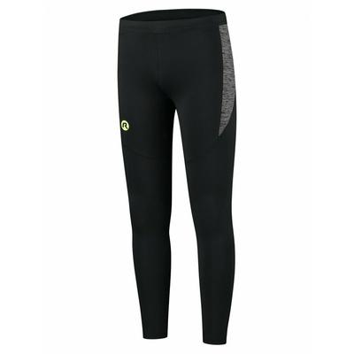 Bieganie mężczyzn spodnie Rogelli Enjoy czarny odblaskowy żółty ROG351100, Rogelli