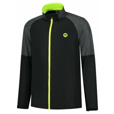 Bieganie mężczyzn kurtka Rogelli Enjoy czarno-szara-odblaskowa żółty ROG351104, Rogelli