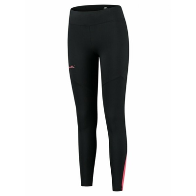 Damskie ocieplane spodnie do biegania Rogelli Enjoy czarno-szaro-różowy ROG351108, Rogelli