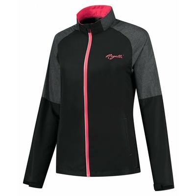 Wiatrówka do biegania damska Rogelli Enjoy czarno-szaro-różowy ROG351112, Rogelli
