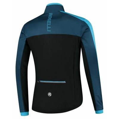 Męska kurtka zimowa Rogelli Freeze czarny i niebieski ROG351021, Rogelli