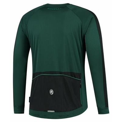 Męski koszulka kolarska bez izolacji Rogelli Explore zielony czarny ROG351003, Rogelli