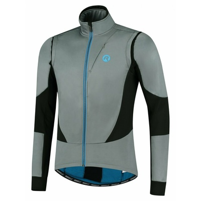 Męska kurtka rowerowa softshell Rogelli Brave szaro-czarno-niebieski ROG351023, Rogelli