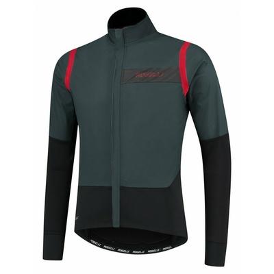 Męska ultralekka kurtka rowerowa Rogelli Nieskończony bez izolacji szaro-czarno-czerwony ROG351050, Rogelli
