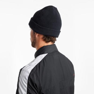 Męska zima czapka Saucony czarny, Saucony