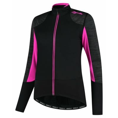 Kurtka zimowa damska Rogelli Glory czarno-szaro-różowy ROG351078, Rogelli