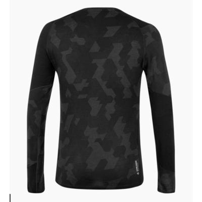 Męskie termo koszulka Salewa Krystalicznie ciepły merino reaguje zaciemniać 28205-0910, Salewa