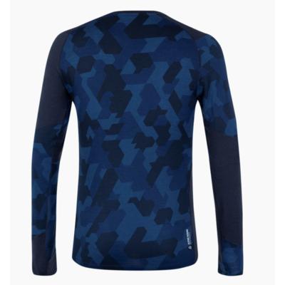 Męskie termo koszulka Salewa Krystalicznie ciepły merino reaguje granatowa marynarka 28205-3960, Salewa