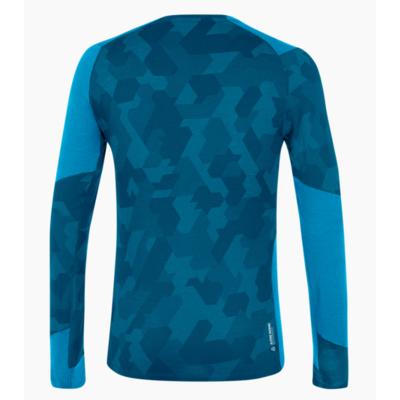 Męskie termo koszulka Salewa Krystalicznie ciepły merino reaguje niebieski cloisonne 28205-8660, Salewa