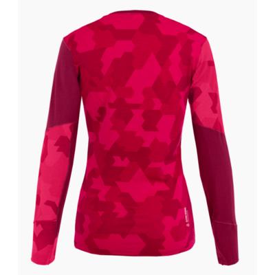 Damskie termo koszulka Salewa Cristallo Ciepły Merino czerwony rodo 28206-6360, Salewa