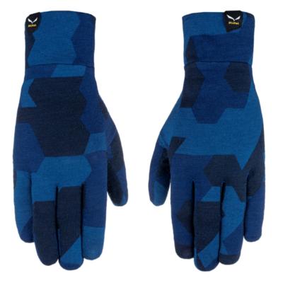 Rękawice Salewa Rękawiczki z kryształowymi wkładkami granatowy kamuflaż 28214-3938, Salewa