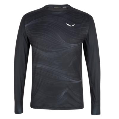 Męskie termo koszulka Salewa Krystalicznie ciepły merino reaguje zaciemniać 28207-0910
