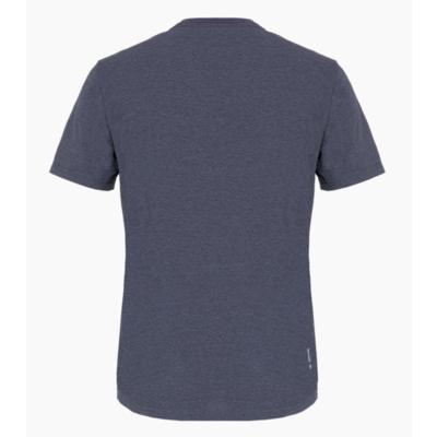 Koszulka męska Salewa Drukowane pudełko Wytrawny melanż granatowy premium 28259-3986, Salewa