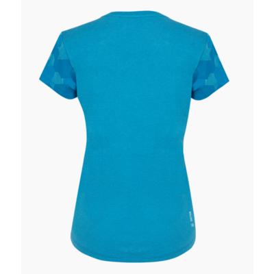 Koszulka damska Salewa Suchy rękaw kamuflażowy niebieski Dunaj melanż 28260-8989, Salewa