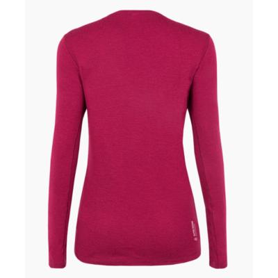 Koszulka damska Salewa Czysty logo merynos czuły long Sleeve Tee czerwony rodo 28263-6360, Salewa