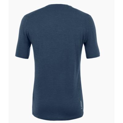 Koszulka męska Salewa Czysty logo merynos czuły granatowa marynarka 28264-3960, Salewa