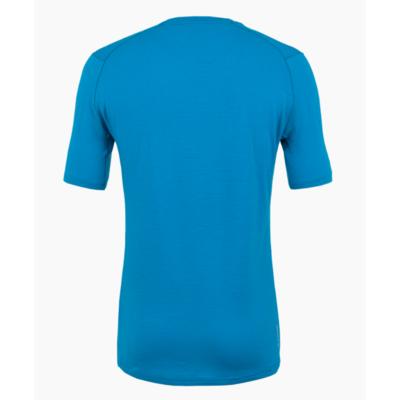 Koszulka męska Salewa Czysty logo merynos czuły niebieski cloisonne 28264-8660, Salewa