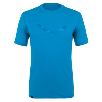 Koszulka męska Salewa Czysty logo merynos czuły niebieski cloisonne 28264-8660