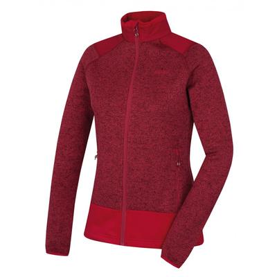 Damski rozpinany sweter z polaru Husky Alan Ltm. purpurowy, Husky