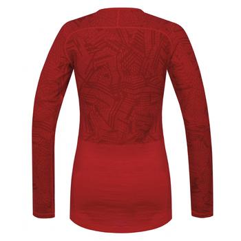 Koszulka damska Husky Merynos czerwony, Husky