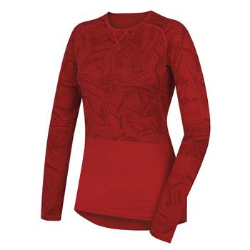 Koszulka damska Husky Merynos czerwony