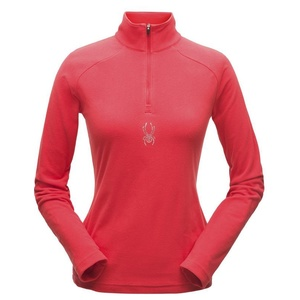 Golf Spyder Women's Shimmer Bug Velour Fleece T-Neck 182342-674, Spyder