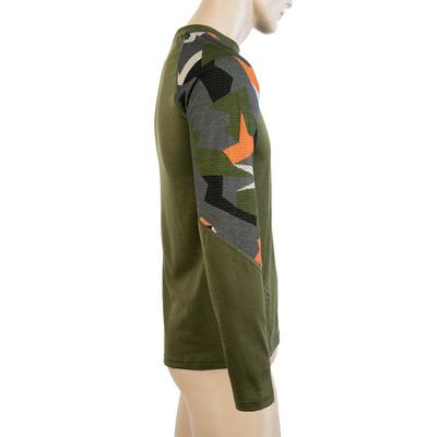 Męskie koszulka Sensor Merino Imponować safari / camo 19200021, Sensor
