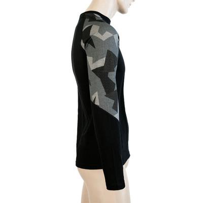 Męskie koszulka Sensor Merino Imponować czarny / moro 19200020, Sensor