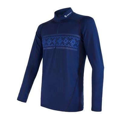 Męskie koszulka Sensor Coolmax Thermo ciemno niebieski 20200047, Sensor