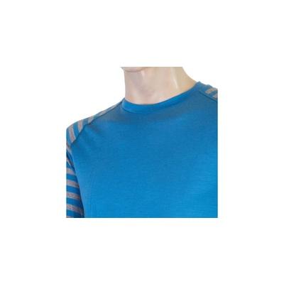 Męskie koszulka Sensor Merino Active niebieski / szary 20200003, Sensor