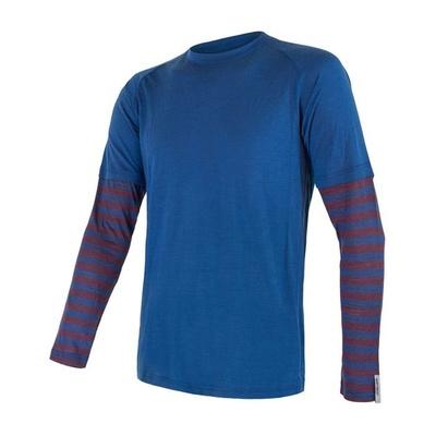 Męskie koszulka Sensor Merino Air PT ciemnoniebieski / bordowy 20200002, Sensor