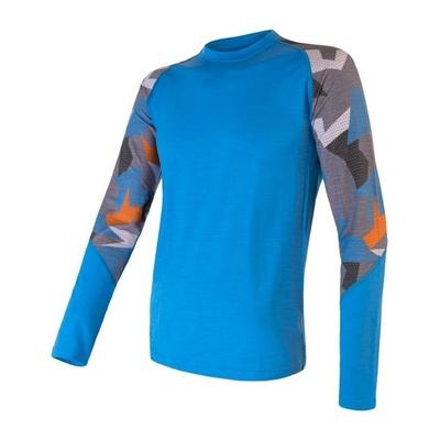 Męskie koszulka Sensor Merino Imponować niebieski / moro, Sensor
