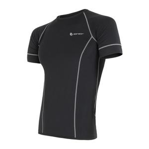 Męskie koszulka Sensor Coolmax Fresh czarne 11101005, Sensor