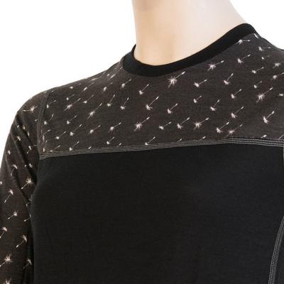 Damskie koszulka Sensor Merino Imponować czarny / wzór 19200025, Sensor
