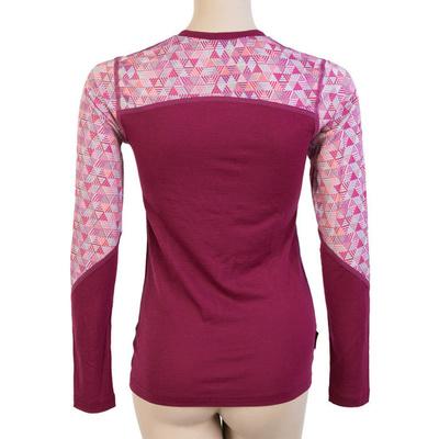 Damskie koszulka Sensor Merino Imponować lillia / wzór 19200024, Sensor