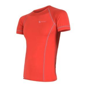 Męskie koszulka Sensor Coolmax Fresh czerwone 11101006, Sensor